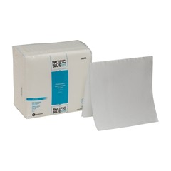 29505 GP PRO Pacific Blue Select™ A300 Disposable Patient Care Washcloth, 1/4-Fold, White
