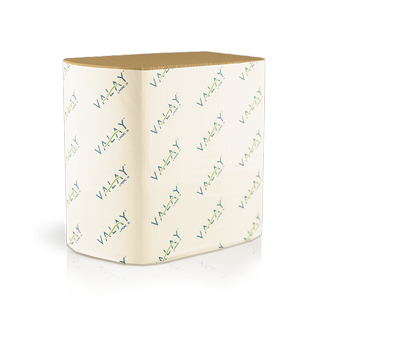 5000VN Morcon Valay 2-Ply 6.5`x8.25` Kraft Paper Interfolded Napkins