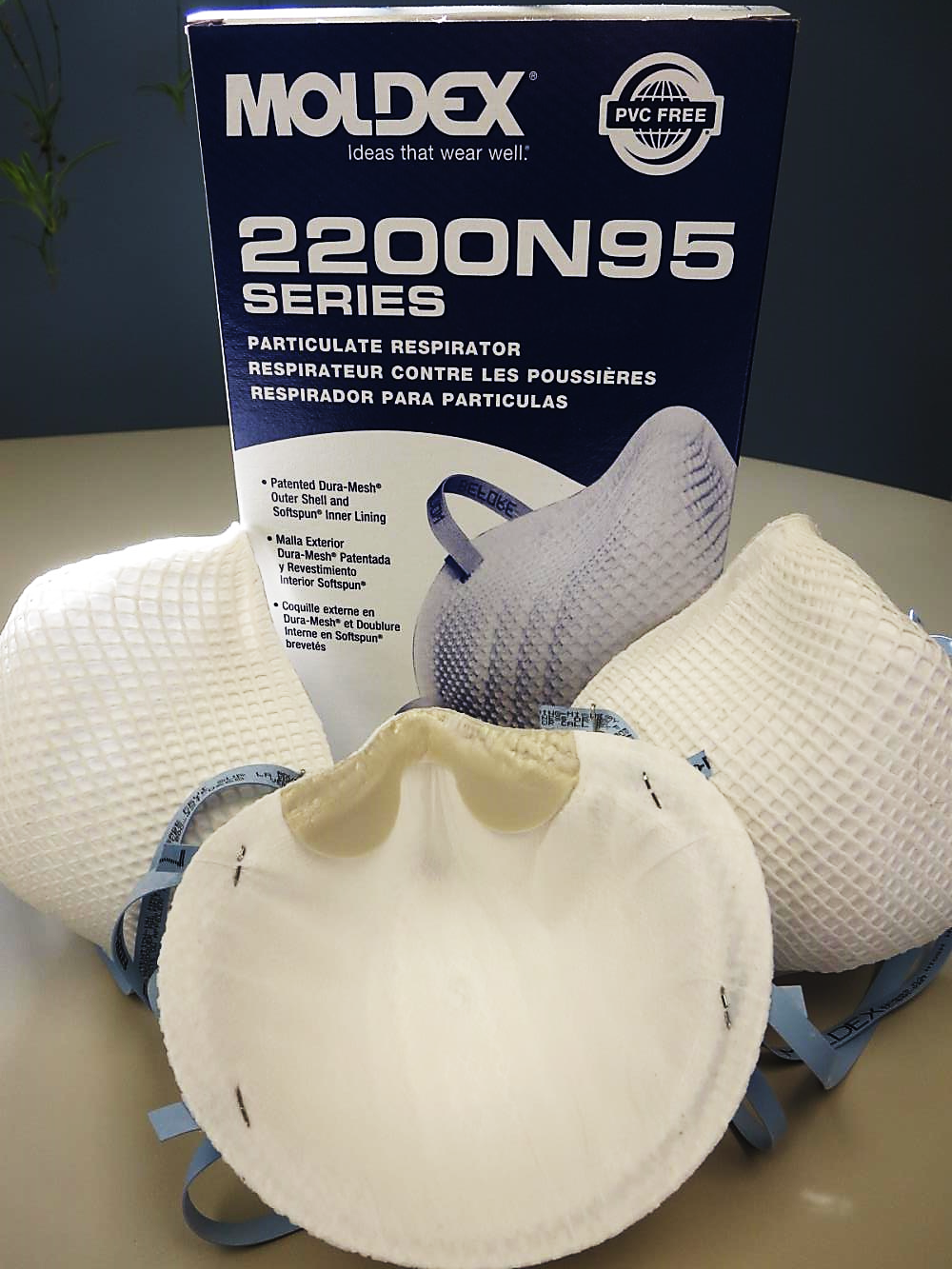 2200 Moldex® 2200 N95 NIOSH Approved Disposable Particulate Respirator - Made in the USA
