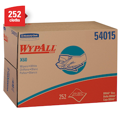 Kimberly Clark® Professional Wypall® 54015 X60 Disposable Wipers, Brag Box
