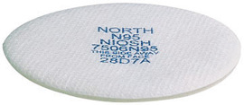 7506N95 North® by Honeywell N95 Replacement Filter For 5400, 5500, 7600 And 7700 Series Respirators