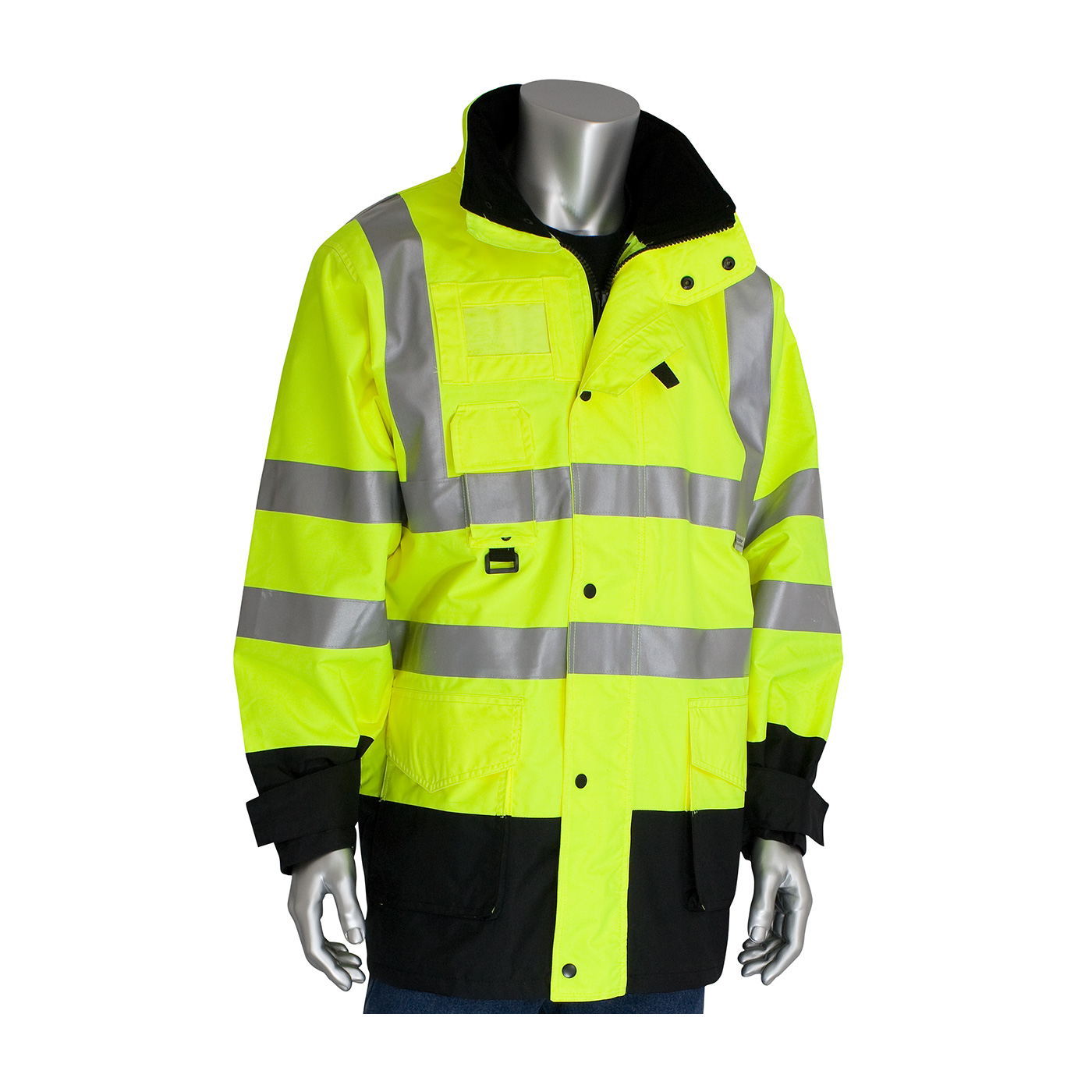 343-1756 PIP® Class 3 ANSI Type R 7-in-1 All Conditions Coats -  Hi-Vis Yellow