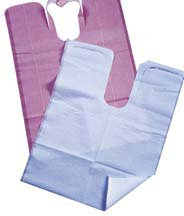 Tidi® Chainless Dental Patient Bibs 917676- Mauve 917673- Blue