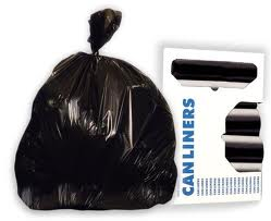 Boardwalk® 30-Gal Black Medium 30` x 36` Grade Rolled Garbage Bags
