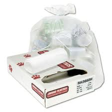 Jaguar Plastics® 10-Gal White 24` x 23` Medium Grade Garbage Bags