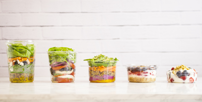 CF-DC-16 Vegware™ Compostable Clear Round Deli Containers (16-oz)