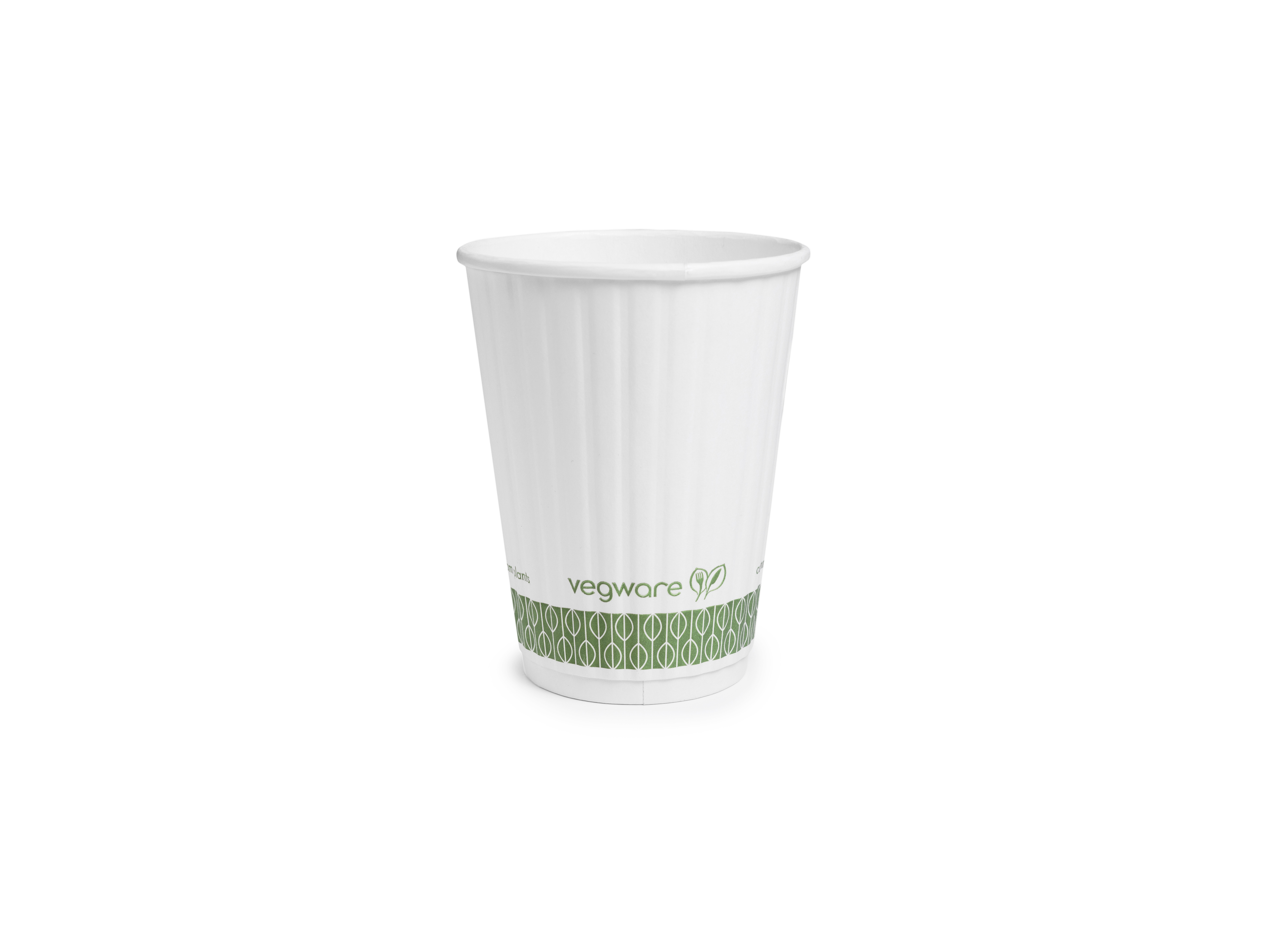 EV-12G Vegware™ Compostable 12-ounce Double Wall Hot Cups