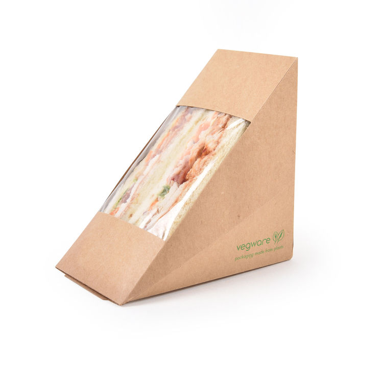 Vegware™ Compostable Kraft Sandwich Boxes