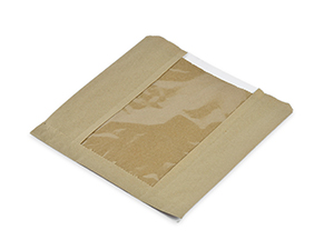 Vegware™ Compostable Kraft Window Food Bags