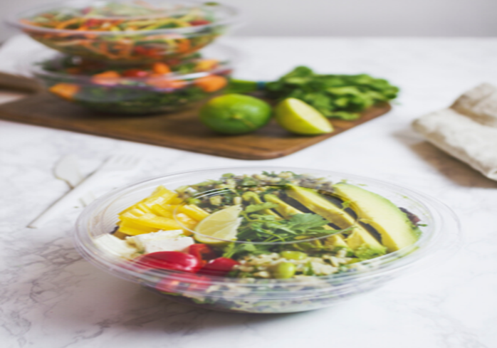 19-RB-24 Vegware™ Compostable Clear Wide PLA Salad Bowls (24-oz)