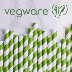 Vegware Compostable Paper Drinking Straws