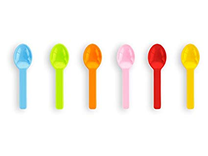 VSP3C Vegware™ Compostable 3-in Tutti Frutti Ice Cream Spoons