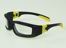 Panzer™ Sealed Safety Glasses w/ Black/Yellow Frame & Clear Anti-Fog Lens