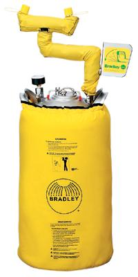 Bradley® 10 Gallon Portable Pressurized Eye Wash Unit With Heater Jacket