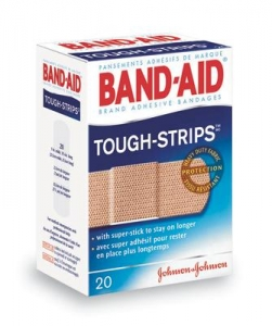 Johnson & Johnson 1` X 3 1/4` Band-Aid® Tough-Strips® Strip Adhesive Bandage