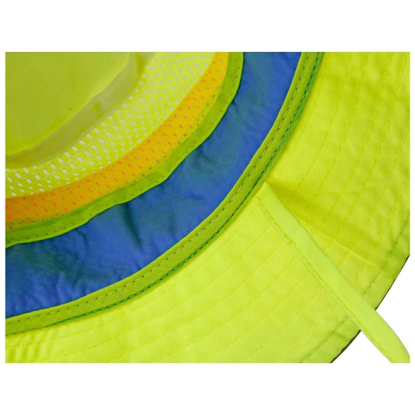 Ergodyne® Chill-Its® Hi-Vis Ranger Hat w/ Cooling Towel #8935CT