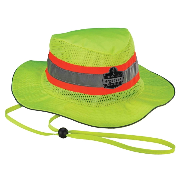 Ergodyne® Chill-Its® Hi-Vis Ranger Hat w/ Cooling Towel