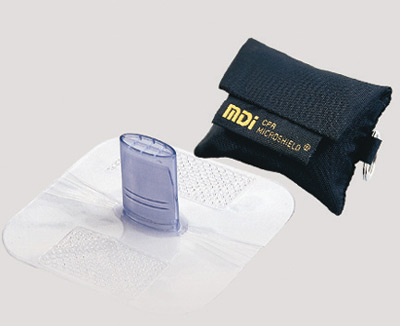 #70-190 MDI® CPR Microshield® MicroKey™ Emergency Rescue Breather In Black Nylon Case w/ Keyring