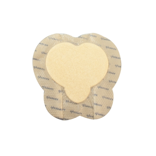 3062 Dynarex® SiliGentle™ Silicone Bordered Foam Dressing - Sacral 7` x 7`
