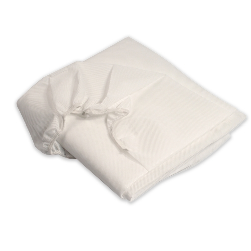#3515 Dynarex® Disposable 30` x 71` Heavy-Duty Non-Woven Fluid Resistant Elastic Style White Cot Sheets