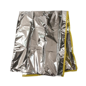 #3538 Dynarex® Disposable 38` x 36` Sterile Emergency Mylar Foil Baby Bunting w/ Reflective Hood