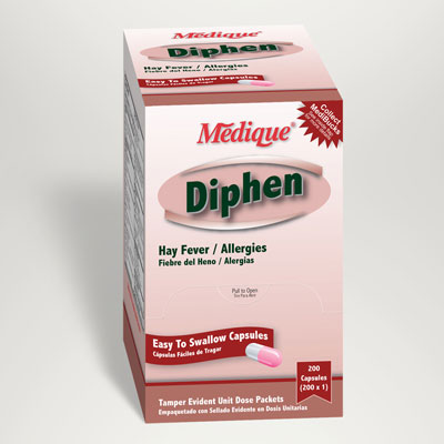 Medique Diphen Hay Fever and Allergy Relief 25mg capsules