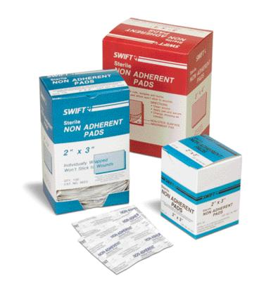 Swift First Aid 3` X 4` Sterile Non-Adherent Gauze Pad
