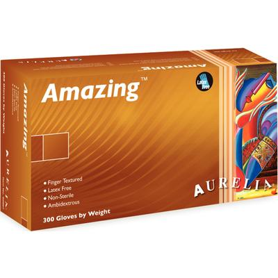Aurelia® Amazing™ Disposable Powder-Free Nitrile  Exam Gloves, blue