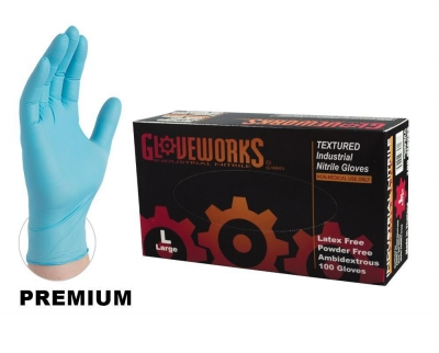 Ammex Gloveworks Powder-Free Industrial Nitrile Gloves