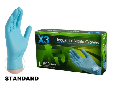 AMMEX X3 Powder-Free Industrial Nitrile Gloves