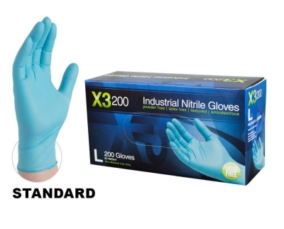 AMMEX X3 200 Industrial Powder-Free Nitrile Gloves