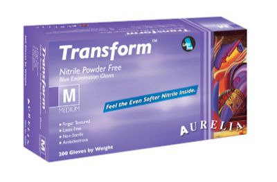 Aurelia® Transform™ Disposable Powder-Free Nitrile Exam Gloves