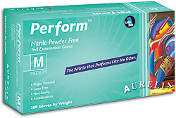 Aurelia® Perform™ Disposable Powder-Free Nitrile Exam Gloves, teal