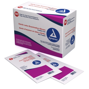 Dynarex® Disposable Sterile Powder-Free Surgical Latex Gloves