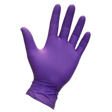 Safety Zone® Purple Nitrile Powder-Free Exam Gloves #GNEP-(SIZE)-1P