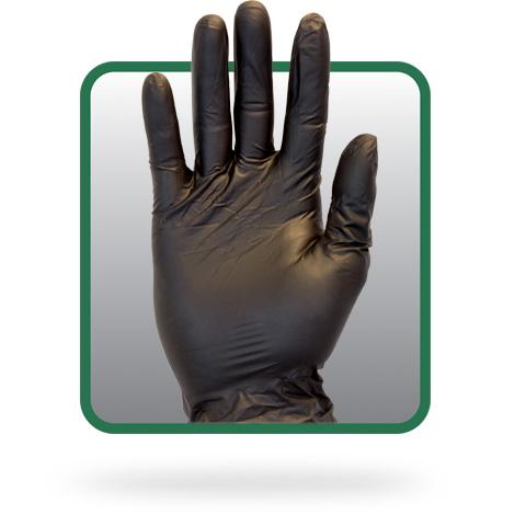 Powder Free Black Vinyl Gloves Black Food Handling