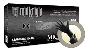 MK296 Microflex® Midknight™ Disposable Powder-Free Nitrile Exam Gloves