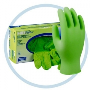 7705PFT Showa® Best® N-DEX® FREE Disposable Powder-Free Nitrile Exam Gloves, lime green,