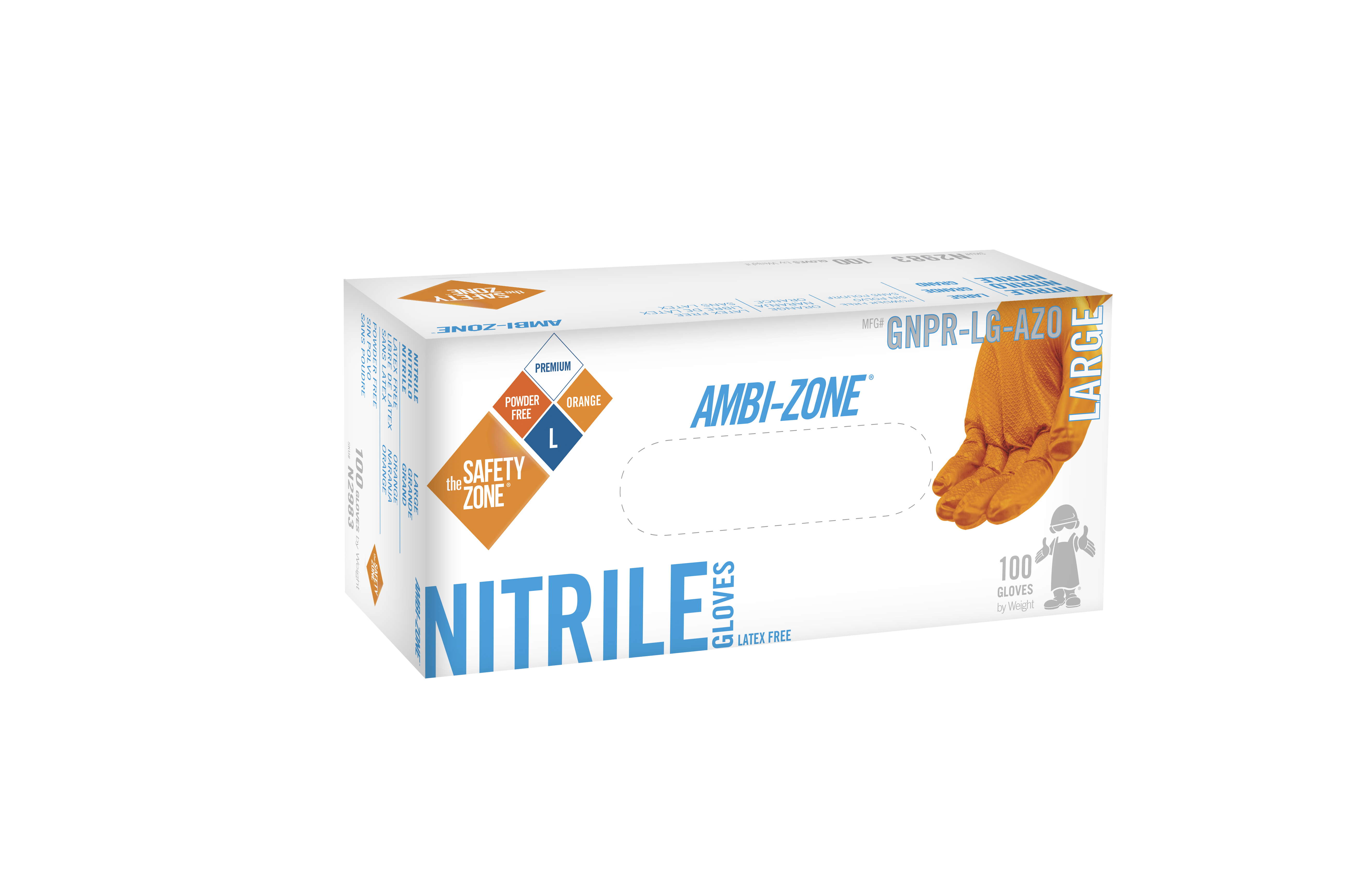 Ambi Zone Heavy Duty Nitrile Gloves Fish Grip Textured