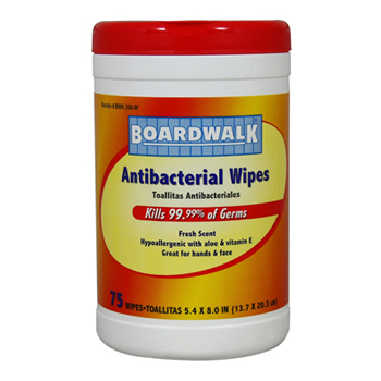#358W Boardwalk® Antibacterial Hand & Face Wipes