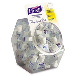 3005 Purell® Instant Hand Sanitizer Gel - .05 oz Display Bowl