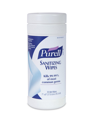 #9011 Purell® INstant Hand Sanitizing Wipes- 35 Count Canister