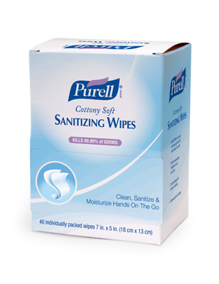 #9025 Purell® Individually Wrapped Hand Sanitizing Wipes