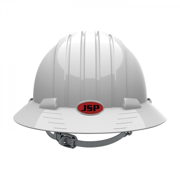 280-EV6141 PIP® JSP® Evolution® Deluxe 6141 Full Brim Hard Hat with HDPE Shell, 6-Point Polyester Suspension and Slip Ratchet Adjustment