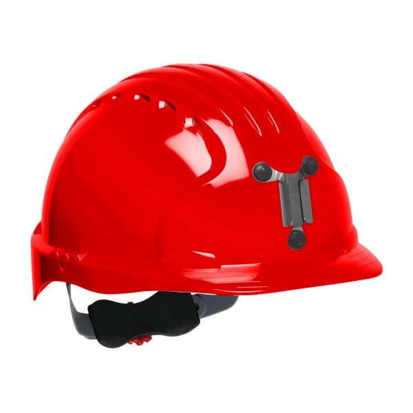 280-EV6151M PIP® JSP® Evolution® 6151 Deluxe Mining Hard Hat: RED