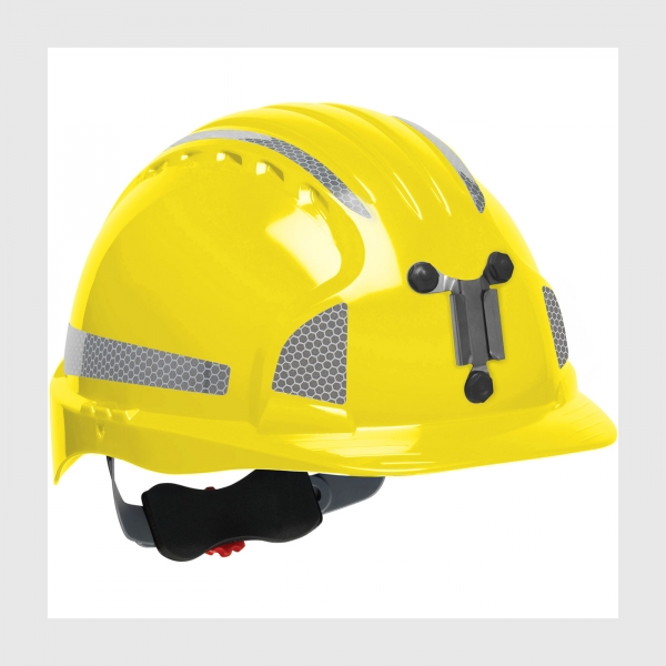 280-EV6151MCR2 PIP®  JSP® Evolution® 6151 Deluxe Mining Hard Hat w/ Optional CR2 Reflective Kit Decals: YELLOW
