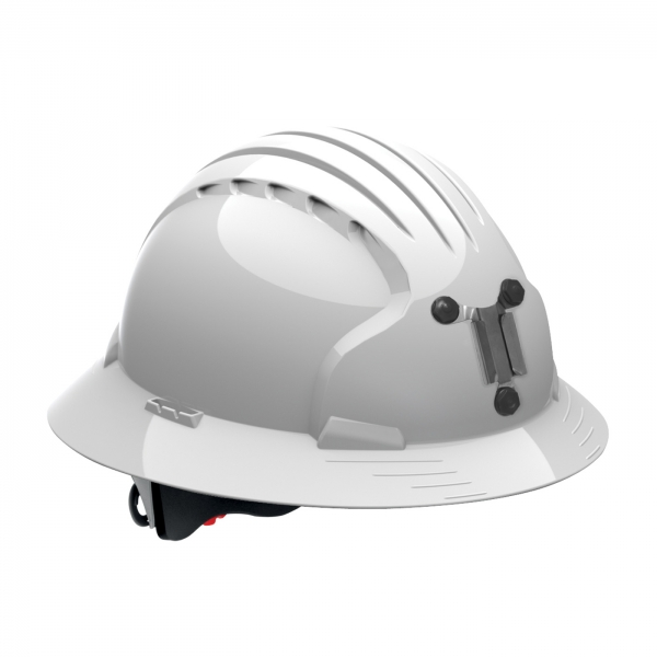 280-EV6161M PIP® JSP® Evolution® Deluxe 6161 Full Brim Mining Hard Hat: WHITE