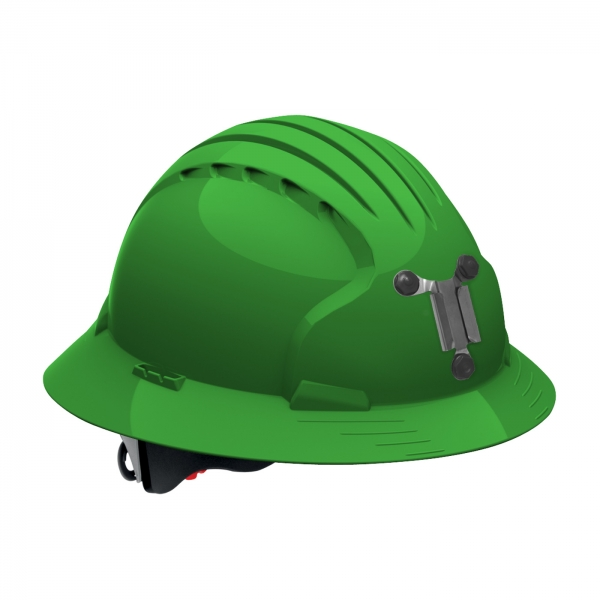 PIP JSP® Evolution® Deluxe 6161 Full Brim Mining Hard Hat: GREEN