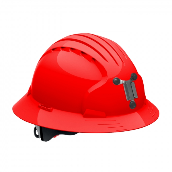 280-EV6161M PIP® JSP® Evolution® Deluxe 6161 Full Brim Mining Hard Hat: RED