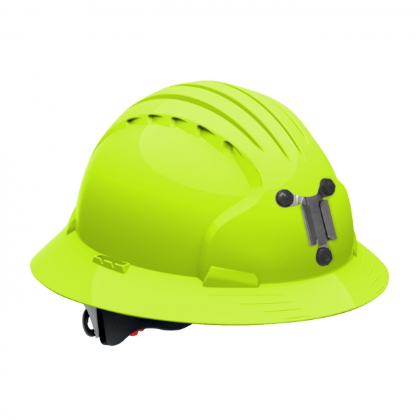 PIP JSP® Evolution® Deluxe 6161 Full Brim Mining Hard Hat: BRIGHT LIME YELLOW
